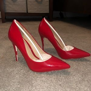 Aldo Heels - Red with red lips on bottoms